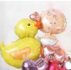【出産祝い】☆お名前入り ベイビーダック ハグ&キス ピンク【送料込み】