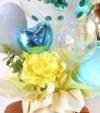 【開店、周年祝い】 ★店名入り ミントグリーンのバルーンアレンジ(卓上タイプ)