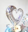 【開院・開園・周年祝い】★店名入り パームフラワーのシルバーアレンジ