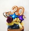 【20歳、成人祝い】祝成人祝いアレンジ ブルー(卓上タイプ)