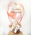 【開院・開園・周年祝い】★店名入りピンクメテオール 気球アレンジ(卓上タイプ)【送料込み】