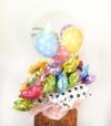 【開店・開院・開園・周年祝い】★医院名入り配れるバルーン30本付きバルーンアレンジ(卓上タイプ)