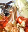 【周年祝い】★数字・店名入りバルーンアレンジ ゴールドエレガンス