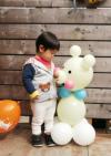 【1歳のお祝い】たっぷりうれしい お名前入り くまちゃんバルーンコロン3個セット(男の子)
