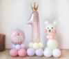 1歳のお祝い】たっぷりうれしい お名前入り くまちゃんバルーンコロン3個セット(女の子)