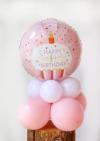 【1歳のお祝い】お名前入り くまちゃんバルーンコロン2個セット(女の子)