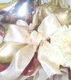 【開院・開園・周年祝い】<br>★店名入り 祝開店クラシックホワイトのバルーンアレンジ(卓上タイプ)【送料込み】