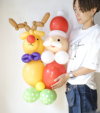 【バルーンアート オンライン・対面レッスン】11月 サンタとトナカイのバルーンドール【