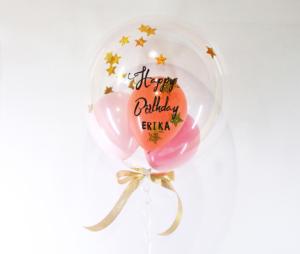 【誕生日プレゼントバルーン】★お名前入り ★ぷかぷか数字が選べる ★カラーが選べる きらきらバルーン 37cmサイズ(3個入り)
