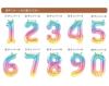【誕生日プレゼントバルーン】★お名前入り ★数字が選べる ★カラーが選べる きらきらバルーン44cmサイズ