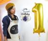 【誕生日プレゼントバルーン】★お名前入り ★ぷかぷか数字が選べる ★カラーが選べる きらきらバルーン 44cmサイズ(5個入り)〈